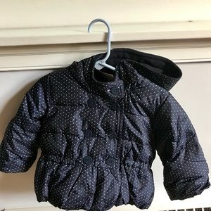 NWT Baby Gap Navy Puffer Coat with Hood.